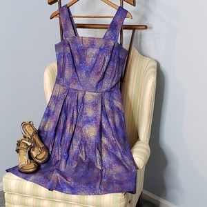 Bea & Dot by ModCloth fit/flare Galaxy print dress